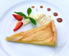 Apple Pie With Strawberries Royalty Free Stock Photography