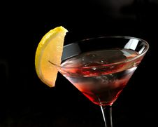 Free Red Martini On The Ice Royalty Free Stock Photography - 32368807