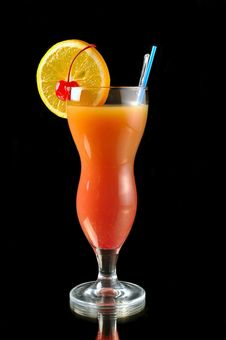 Cocktail Smoothies Tropical Fruit Stock Image