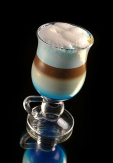 Free Cocktail With Coffee And Whipped Milk Stock Photography - 32368872