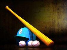Free Baseball Helmet, Bat, Balls Stock Images - 32372814