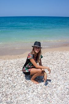 Beautiful Woman On A Beach Stock Photos