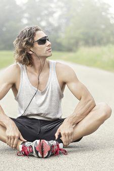 Free Athlete With Sunglasses Looks Away Stock Photos - 32381643