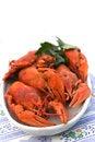 Free Crayfish Crab Crawfish Red On A Platter Stock Images - 32392304