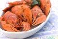Free Crayfish Crab Crawfish Red On A Platter Royalty Free Stock Image - 32392366
