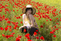 Free Summer Girl On Flowers Royalty Free Stock Image - 32394646