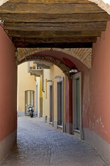 Look In An Alley In Alba Stock Photo