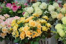 Free Bouquet Of Fabric Roses Stock Images - 32393764
