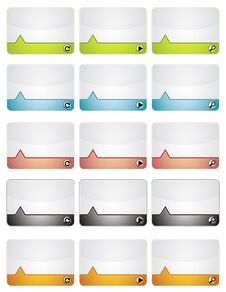 Free Colored Information Banners Royalty Free Stock Photography - 32396737