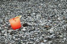 Free Bucket On The Beach Stock Photo - 32397280