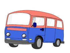 Free Van  Cartoon Stock Photography - 32399682