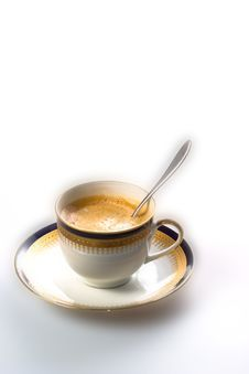 Free Coffee Cup With Spoon Stock Photo - 3240230