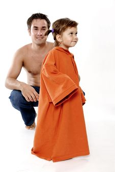 Father With Daughter Stock Images