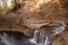 Free Autumn Waterfall Stock Photo - 3240580