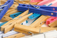 Free Clothespins Stock Photography - 3241572