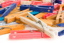 Free Clothespins Royalty Free Stock Photography - 3241697