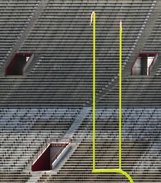 Free Goal Posts And Empty Stands Royalty Free Stock Photography - 3242317