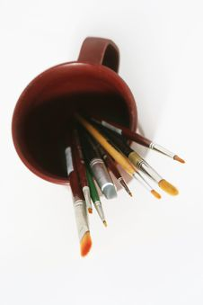 Art Tools - Brushes Royalty Free Stock Photo