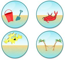 Free Beach Clip-art Royalty Free Stock Photos - 3242448