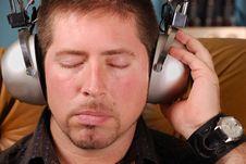 Free Man With Vintage Headphones Royalty Free Stock Photos - 3243618