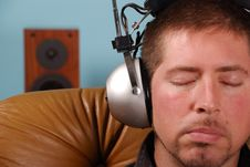 Free Man With Vintage Headphones Stock Photography - 3243622