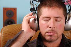 Free Man With Vintage Headphones Royalty Free Stock Photo - 3243625