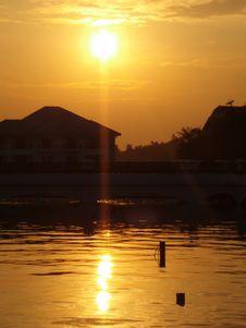 Free Sunset On The Lake Stock Photos - 3243643