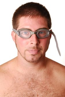 Free Man With Goggles Stock Image - 3243761