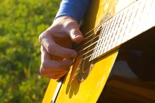 Free Detail Of A Guitarist Stock Photo - 3244080