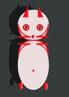 Cat Logo Type Royalty Free Stock Image