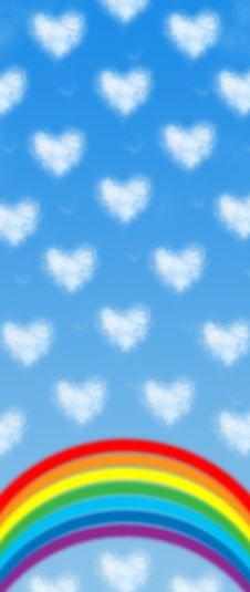 Free Heart Shaped Cloud Royalty Free Stock Photography - 3245177