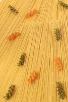 Raw Colorful Pasta Stock Photography