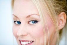 Free Blue Eye Smile Stock Image - 3246571