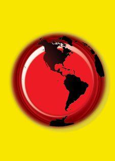 Free Globe Button - Yellow Royalty Free Stock Photo - 3246685