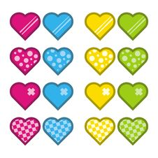 Free Colorful Hearts Royalty Free Stock Photo - 3246925