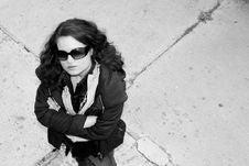 Free Girl On The Gravestone Stock Image - 3247881