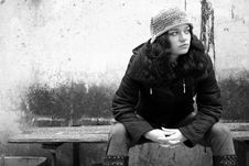 Free Girl On The Bench - 2 Royalty Free Stock Photography - 3247907