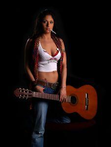 Free Beautiful Rock Chick Stock Image - 3248311