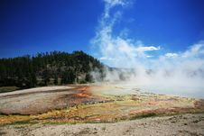 Midway Geyser In Yellowstone Stock Image