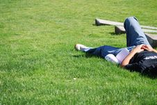 Taking Rest After School Day Stock Photography