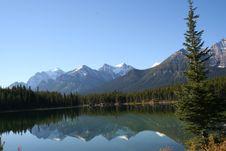 Lake And Trees Reflection Royalty Free Stock Photos