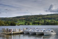 Boats On Coniston Water Royalty Free Stock Image
