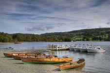 Pleasure Boats On Coniston Wat Stock Photos