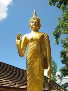 Free Buddha Statue Stand Royalty Free Stock Photo - 32405565