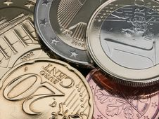 Free The European Coins. Royalty Free Stock Photos - 32406748