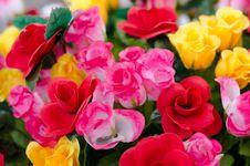 Free Fabric Roses Royalty Free Stock Photo - 32409405