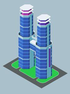Free Isometric Building Royalty Free Stock Image - 32409506