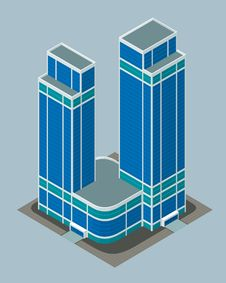 Free Isometric Building Royalty Free Stock Photography - 32409507