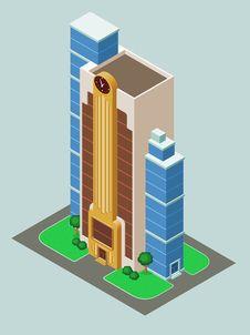 Free Isometric Building Royalty Free Stock Image - 32409516