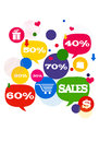 Free Sales Shopping Icons Royalty Free Stock Photo - 32414445